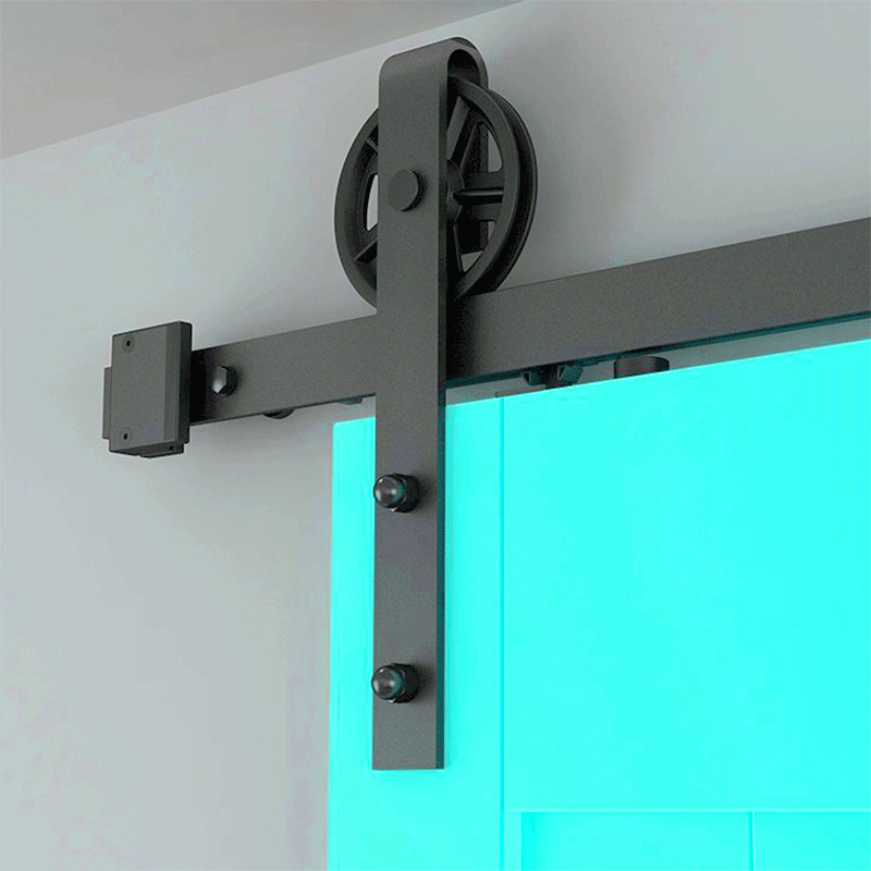 Wheel Single Sliding Door Barn Track Hardware Barn Door Rail Hardware Sliding Door Track Kit Barn Door System Slide Kit