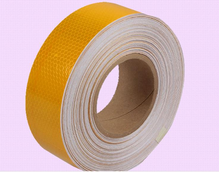 5cm*45M Orange Warterproof Reflective Warning Safety Self adhesive Tape