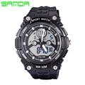 New SANDA Relógio LED Esporte Militar Relógios Das Mulheres Dos Homens de Moda Ao Ar Livre dos homens Quartzo Analógico Digital Watch Relogio masculino