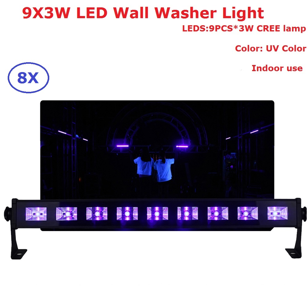 high brightness 9ledx3w led bar black light uv purple led wall washer lamp landscape wash wall lights for christmas decorations