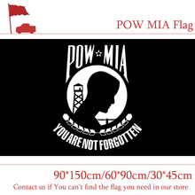 Free shipping 3*5ft American POW MIA Flags 90*150cm 60*90cm Banner 30*45cm Car Flag