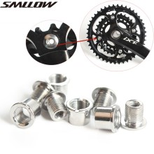4 Pair MTB Nail Plate Dental Screws Steel Chainwheel Bolts Road Bike Crank Crusset Nut Parts Bicycle Accessories