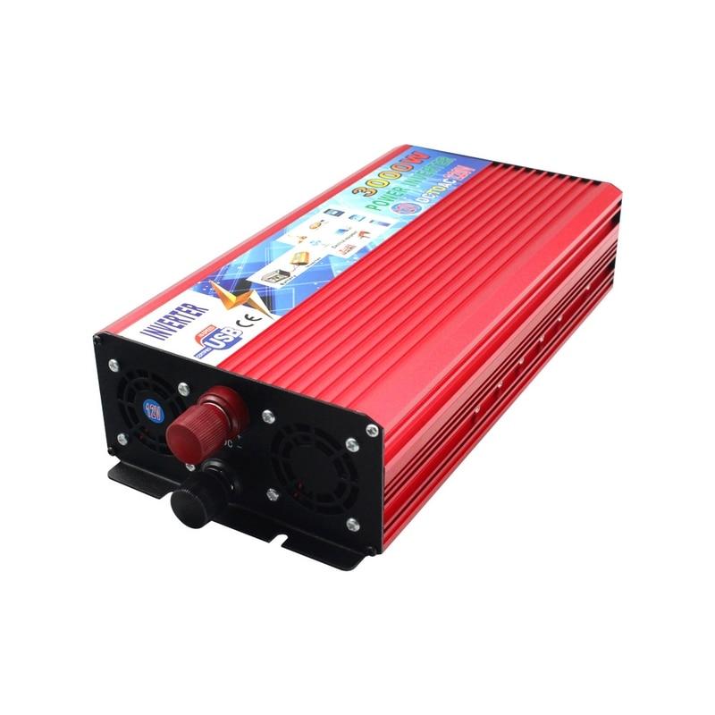 Image 3 - 12V 220V Power Inverter 3000W Car Inverter 12v to 220v Inverter Converter Portable Auto Power Supply USB Charger-in Car Inverters from Automobiles & Motorcycles