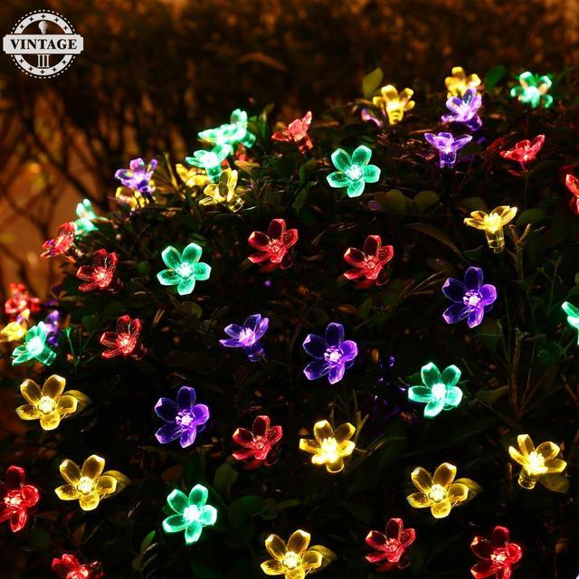 Antikue Solar Fairy String Lights Decorative Garden Lawn Patio Christmas Trees Wedding 7m 50 Led