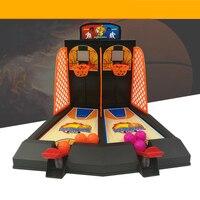 Desktop Basketball Mini Finger Shoot Basket Child Table Games Double Play Interaction Toy Model Fun Birthday Gift