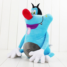 36cm Oggy and the Cockroaches French Cartoon Oggy Plush doll toy Fat Cat Oggy stuffed soft animal doll toy Hot gift for children