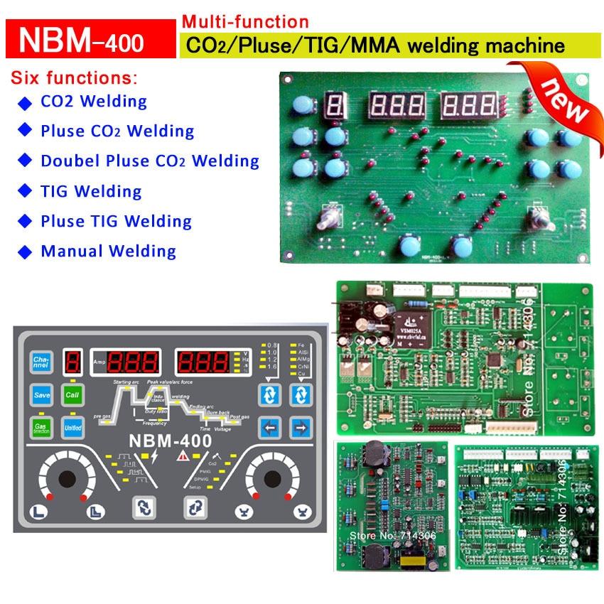 NBM - 400 schede di controllo macchina multifunzione Contiene quattro schede (display pcb + pcb guidato + pcb di alimentazione filo + multifunzione)