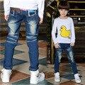 2017 Spring Boys Solid Jeans Pants Children JeansLight Wash Boys Jeans for Boy Regular Elastic Waist Kid Children's Jeans P262