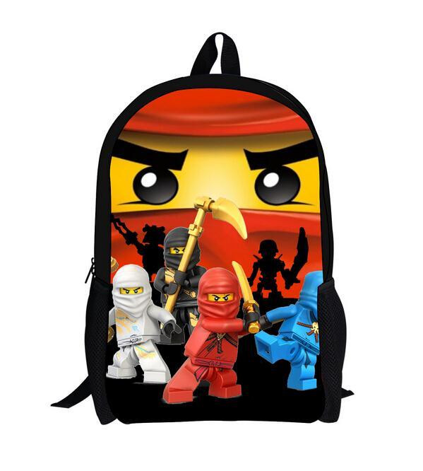 16 Inch Lego Ninja Batman Backpack Boys Girls School Bags Men Women Daily Backpack Children Bookbag Shoulder Backpacks Mochila