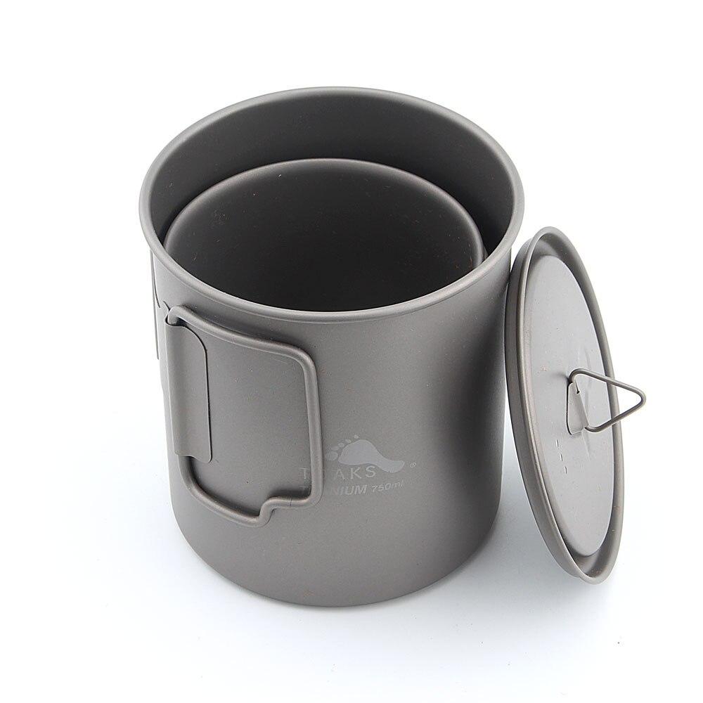 TOAKS CMB-750-450 Titanium 750ml Pot and 450ml Cup Combo Set