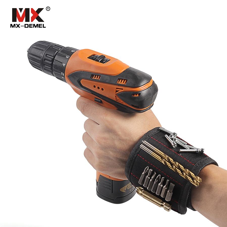 MX-DEMEL Wristband Braccialetti Da Polso Regolabile Portatile 5 pz Magnete Magnetico con Viti Chiodi Nuts Bulloni Titolare Drill Bit Utensili A Mano