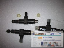 Yangdong Y380T Y385T (swirl chamber), set of fuel injector, part number: 00P21-15N