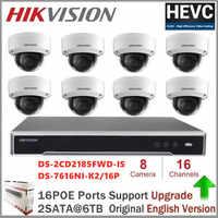 Hikvision 16CH 4K Réseau POE NVR Kit DE VIDÉOSURVEILLANCE Système de Sécurité 8 pièces 8MP Dôme Caméra IP Extérieure IR Vision Nocturne Surveillance Ensemble
