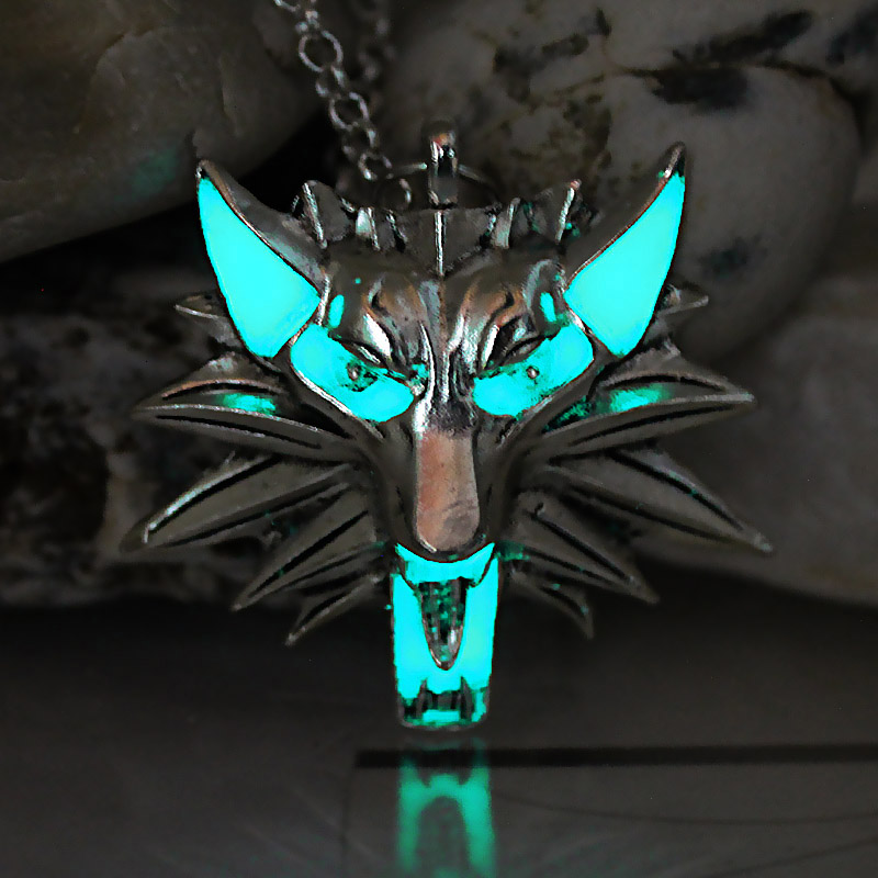 The Witcher 3 Caza Salvaje Lobo Collar Colgante Juego De tronos Stark Crepúsculo