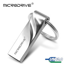 Estilo de negocios Pen Drive 32 GB capacidad Real 128 GB 64 GB usb 2,0 pendrive USB Flash drive 16 GB 8 GB 4 GB con Llave de Anillo(China)