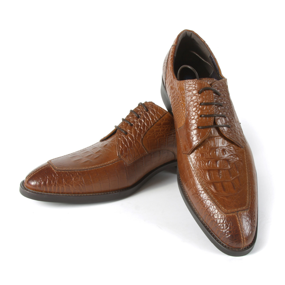 2017 Brogue Men's Oxfords Casual Wedding Shoes Embossed Leather Round Toe EU38-44 Brown Color Latest Classic Brogue eu38 44 black brown color fashion style men s shoes genuine leather handmade round toe dress wedding brogue oxfored shoes