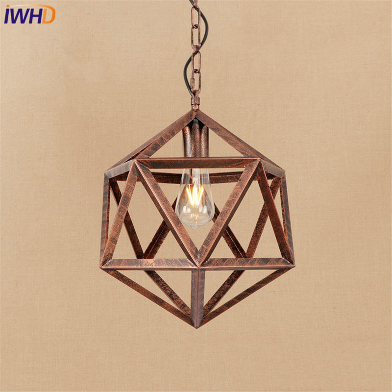 Loft Style Iron Droplight Edison LED Pendant Light Fixtures Indoor Dining Room Hanging Lamp Vintage Industrial Lighting loft style iron glass vintage pendant light fixtures edison industrial lamp dining room bar hanging droplight indoor lighting