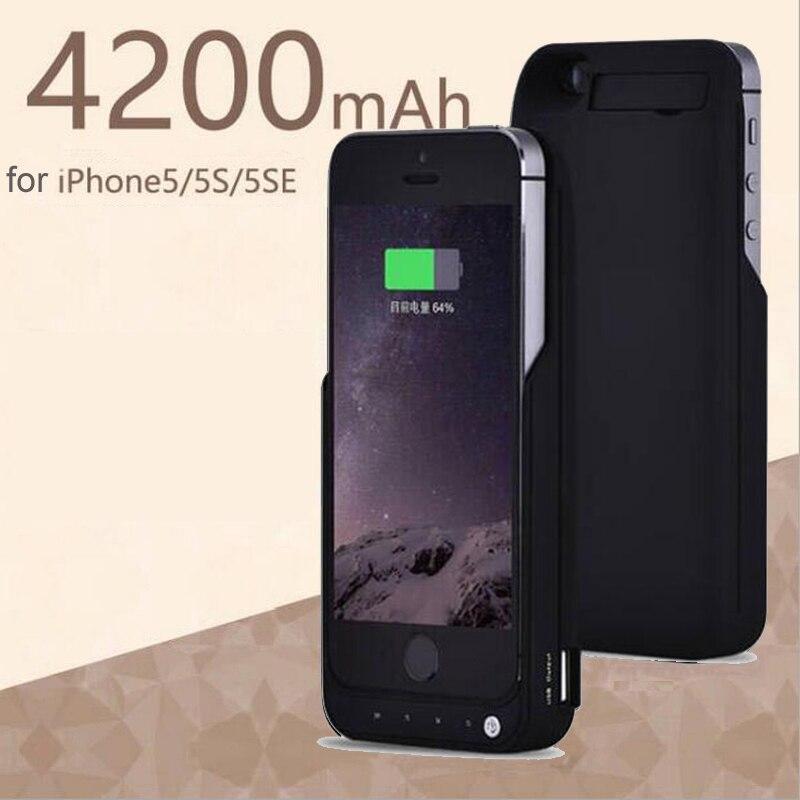 2018 NEUE 4200 mah Batterie Ladegerät Fall Für iPhone 5 5 s SE Tragbare Backup Externe Lade Fall für iPhone5 5 s Power Bank Abdeckung