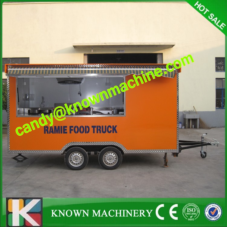 Street food cart Ice cream Venidng Cart mobile food kiosk for sale