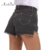 Mulheres Denim Shorts Das Mulheres Do Vintage de Cintura Alta Calça Jeans Manguito ArtSu Shorts Streetwear Menina Sexy Plus Size XXL Calções Roupas ASSH50000