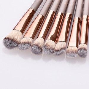 Image 3 - 12Pcs Makeup Brushes Tool Set Cosmetic Powder Eye Shadow Foundation Blush Blending Beauty Make Up Brush Set Maquiagem Drop ship