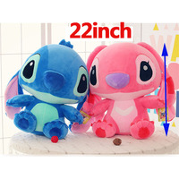 22 inch Height Giant Large toys Lilo Stitch Stuffed stich Animal Doll Plush Baby Soft Toys Pillow for girl boy Birthday gift