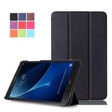 La Cubierta del tirón Para Samsung Galaxy Tab 10.1 2016 T585 T580 SM-T580 T580N cases Smart Cover funda de shell de la piel + Regalo + Pantalla Protector
