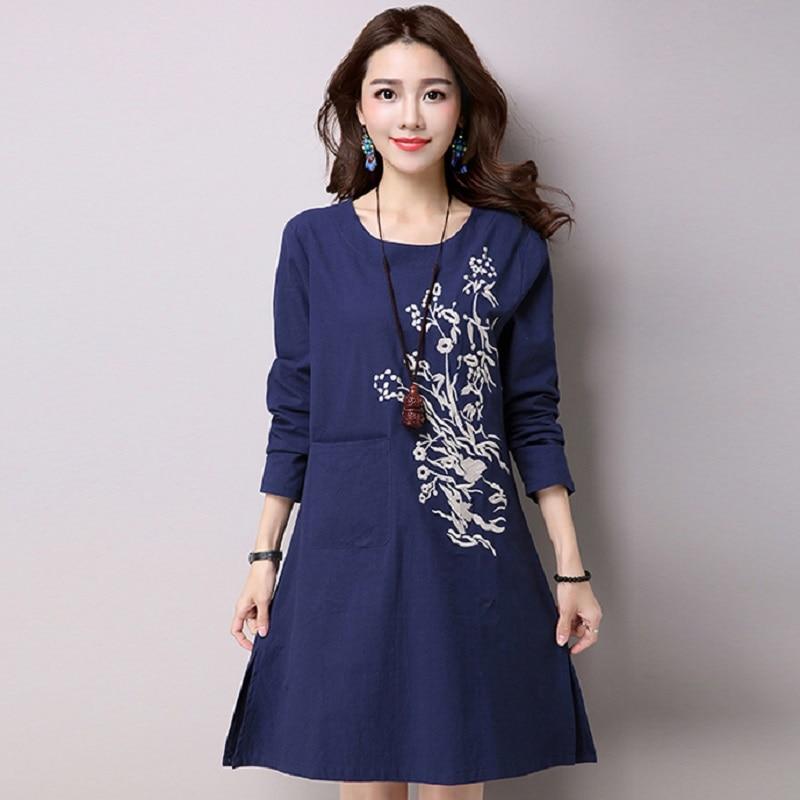05dc061260c29 Yeni bahar/yaz analık elbiseler pamuk ve keten baskı kadın elbiseleri  hamile elbiseler 16119