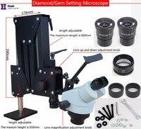 Ювелирные изделия оптические инструменты супер прозрачный микроскоп с лупой стенд Алмазная установка микроскоп со светодио дный ным источ