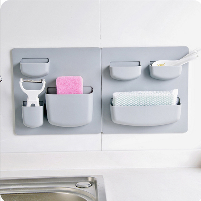 Compact Bathroom Wall Storage Rack