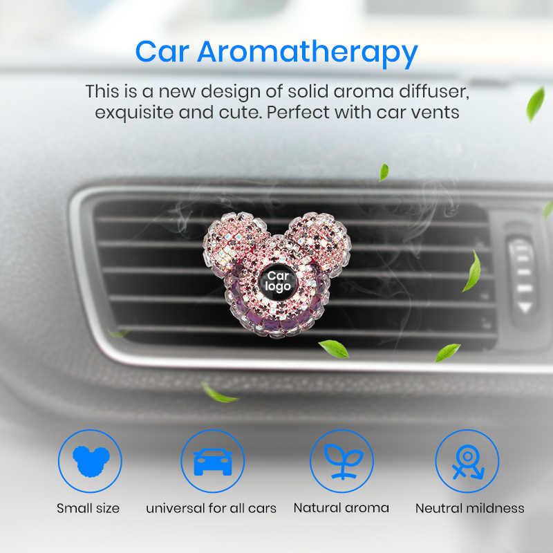 Junsun personnalisé voiture Logo parfum voiture style dame parfums voiture désodorisant diamant climatiseur sortie clip décoration