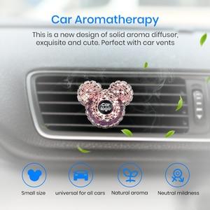 Image 2 - Junsun пользовательский автомобильный логотип парфюм для стайлинга автомобиля дамские духи освежитель воздуха для автомобиля Алмазный кондиционер на выпускной зажим Украшение