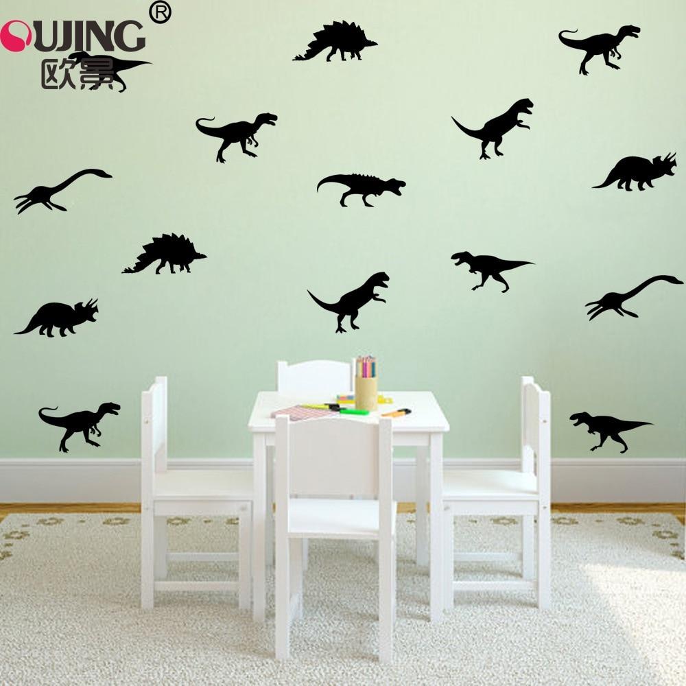 11pcs/set Cartoon Jurassic Park Cute Dinosaurs Wall Stickers For Kids Boys Rooms Nursery Art Mural Home Decor Animal Wallpaper