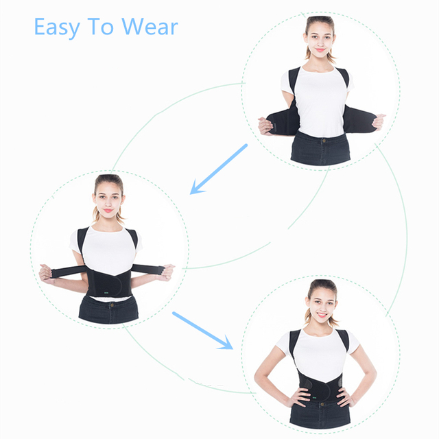 Los niños adultos corsé Corrector de postura terapia hombro Lumbar soporte columna cinturón de apoyo la postura de corrección para los hombres las mujeres