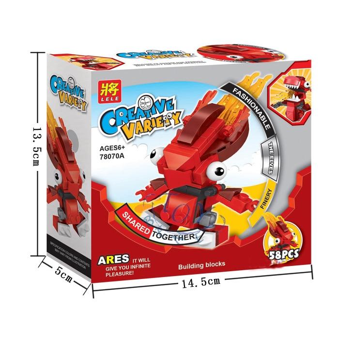 Mixels Elf Lele Toy Bricks 3pcsset Infernites Max Vulkfiainzorch
