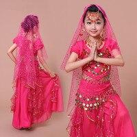 2017 dziewcząt Taniec Brzucha Kostium kostiumy Taniec Indyjski bollywood 2-3-4-5-6-7pcs Tribal Danza Del Ventre Gypsy Kostiumy