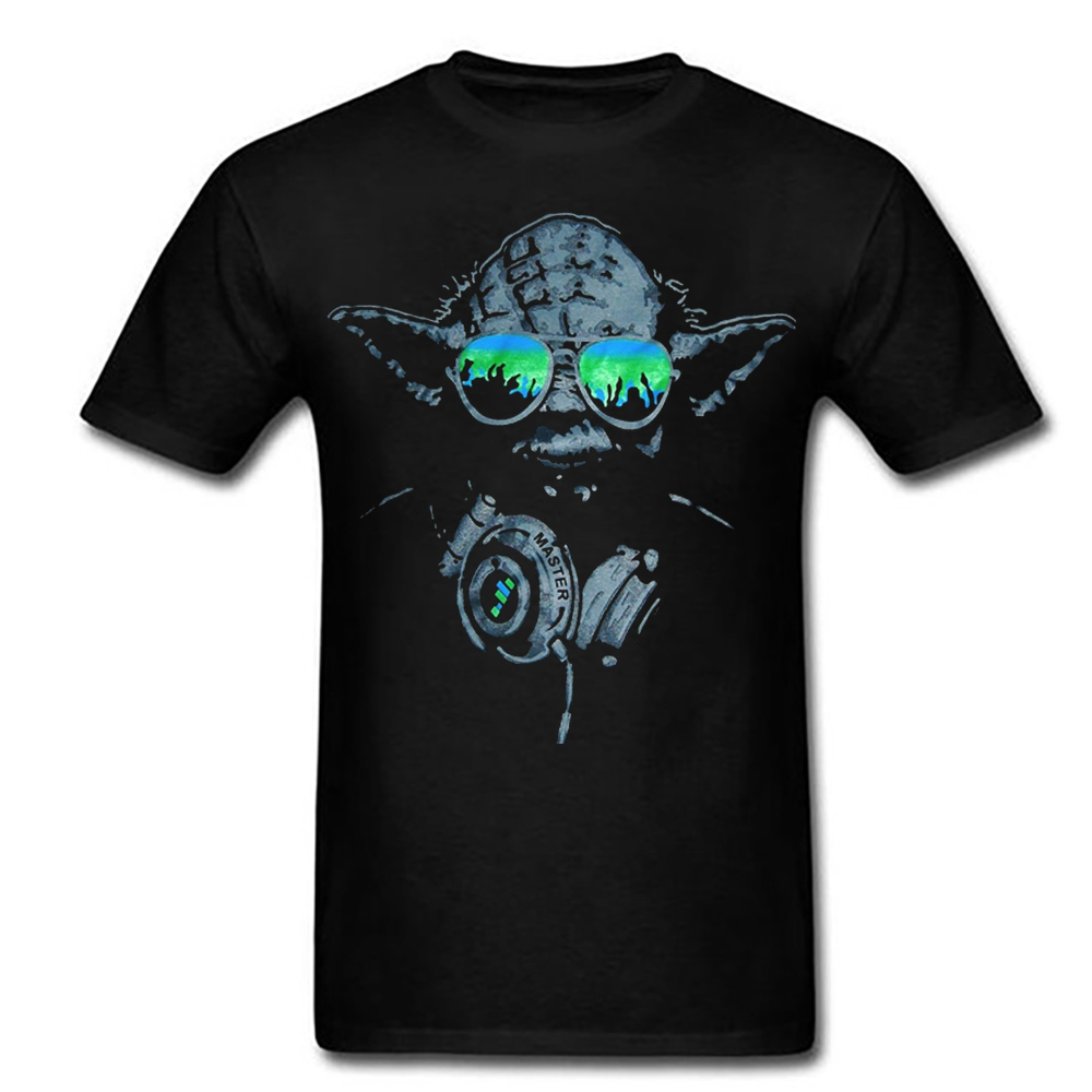 DJ YODA Star Wars Film Funny Shirt Hip Hop Yoda Tshirt Top Tees image