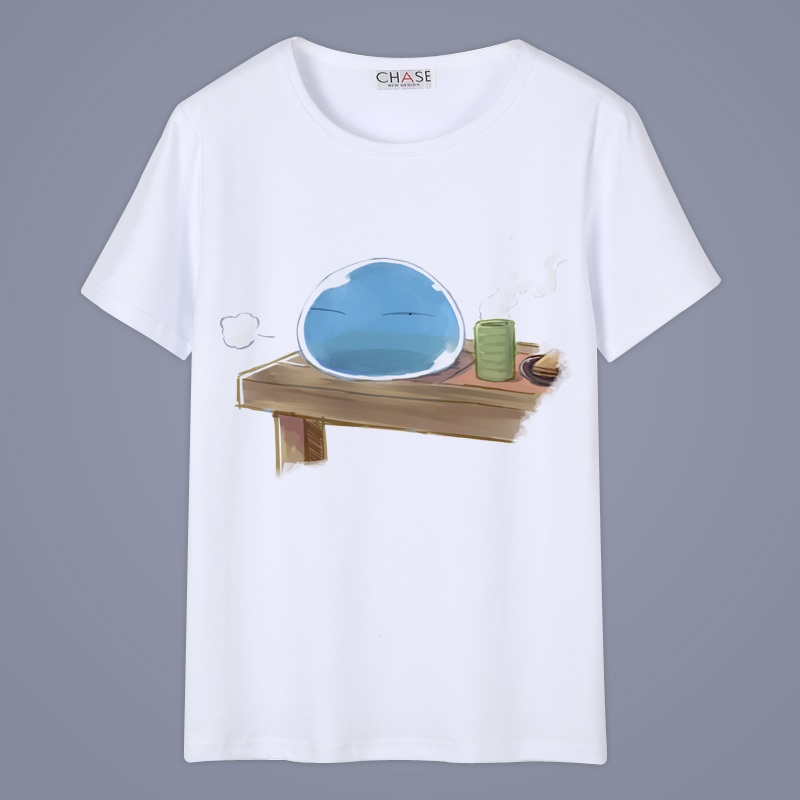 High-Q Unisex Anime Cos Cartoon That Time I Got Reincarnated as a <font><b>Slime</b></font> Cotton Casual Tee <font><b>T</b></font>-<font><b>Shirt</b></font> <font><b>T</b></font> <font><b>shirt</b></font> image