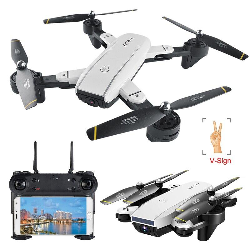 Selfie Drone professionnel optique suivez-moi RC quadrirotor avec caméra double HD 720 P FPV télécommande hélicoptère VS XS809S E58