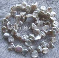 16 pollice 8x12mm natural white pearl viene fornito con un perle>>> donne jewerly Spedizione gratuita