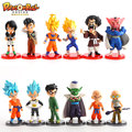 6 pcs/lot Dragon Ball Z action figures set super Goku Vegeta Gohan Trunks Piccolo Mark 2015 figurines toys free shipping