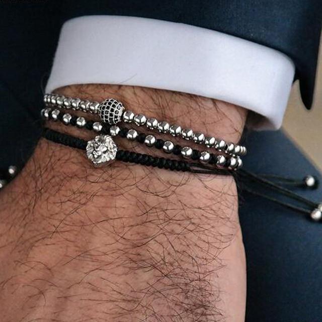 6mm CZ Ball Bracelet Men Jewelry Bracelets For Women Pulseira Masculina Bileklik