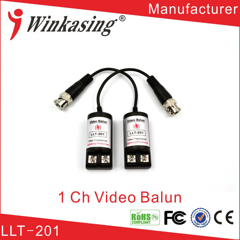Twisted Single Channel Passive Video Balun Transceiver CCTV DVR camera BNC UTP Security cctv Video Balun surveillance 10PCS promotion new silver utp 4 channel passive video balun transceiver adapter