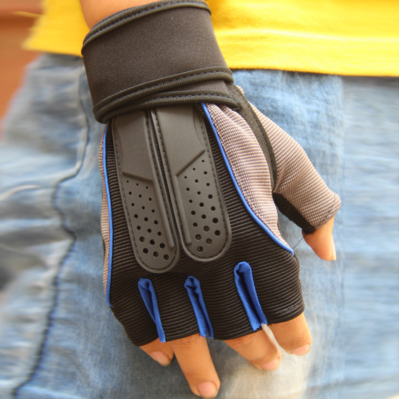 Unisex Tactical Weight Lifting Workout Gym Gloves Wrist Wrap