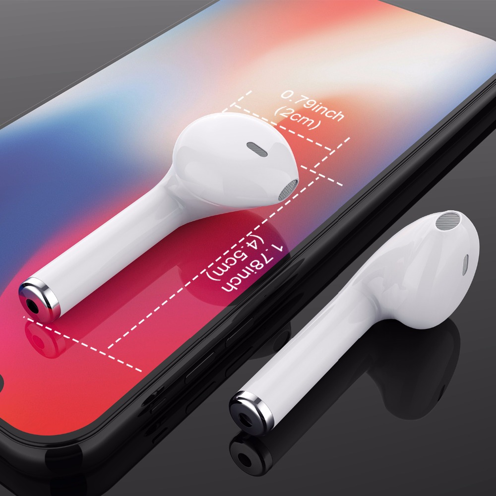 GETIHU Mini Bluetooth del teléfono auriculares auricular estéreo auriculares inalámbricos auriculares para iPhone 7 8 X