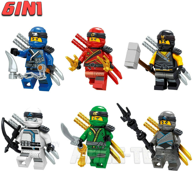 NINJA Movie Action Figures Set Dragons Lloyd Kai Wu Building Blocks Compatible LegoINGly Ninjagoes Toys For Children Gift 2018 1326pcs ninjaos temple of ninjagoes blocks set toy compatible with legoings ninja movie building brick toys for children