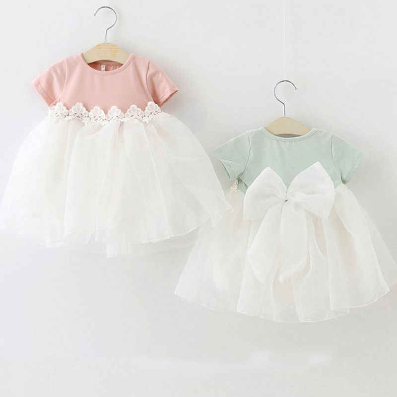 Pudcoco Princess Baby Girl Dress Party Birthday Dress Lace Floral Baptism Vestido Infantil Bow Tulle Wedding Dresses Newborn