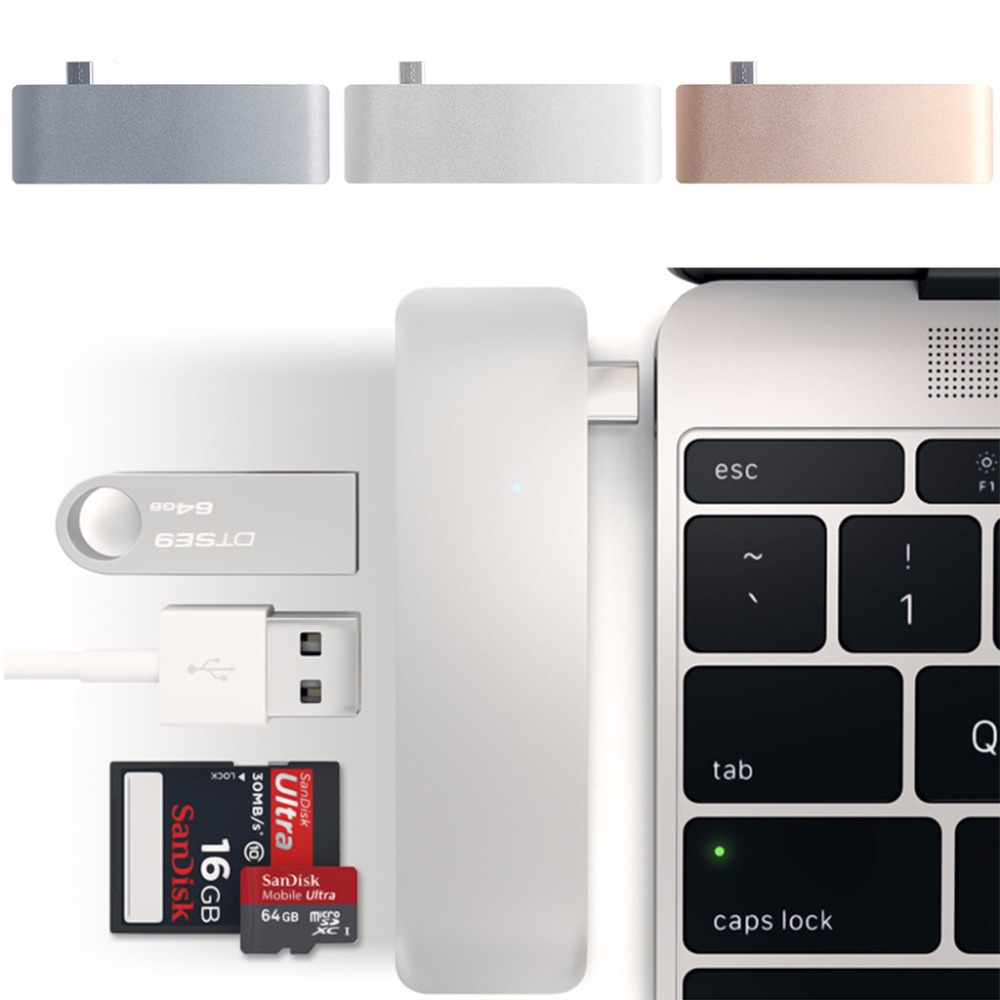 5-In-1 USB-C 3,1 Typ-C Hub USB 3.0 Combo PD-Power SD/TF Karte reader Für Dell HP MacBook Laptop