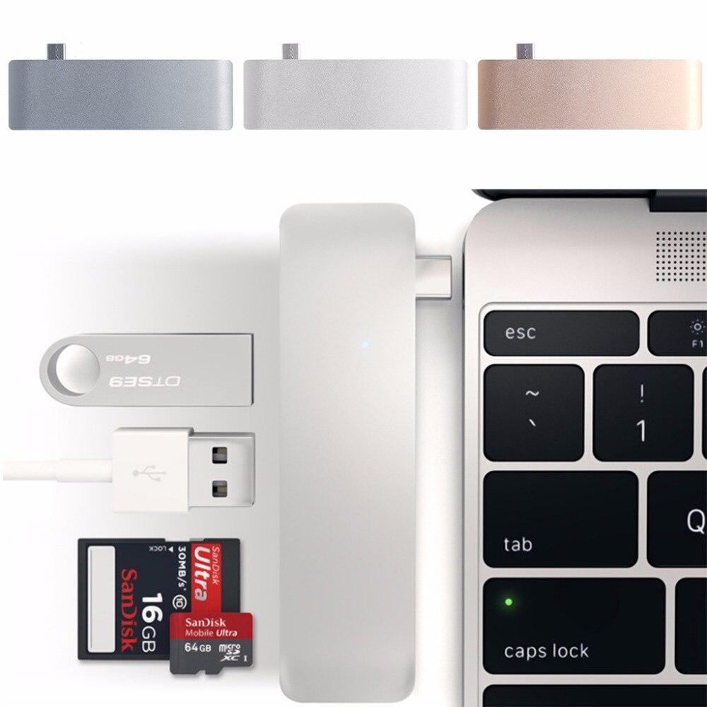 5-en-1 USB-C 3.1 Type-C Hub USB 3.0 Combo PD-Puissance SD/TF lecteur de carte Pour Dell HP MacBook Ordinateur Portable