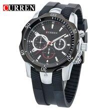 Curren reloj de los hombres a prueba de agua reloj de cuarzo negro placa de lujo relojes montañismo resistencia tabla masculina ocasional 8163